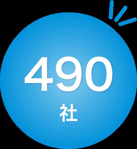 導入企業数(2021年10月現在)470社
